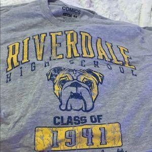 Gray Riverdale cropped t-shirt